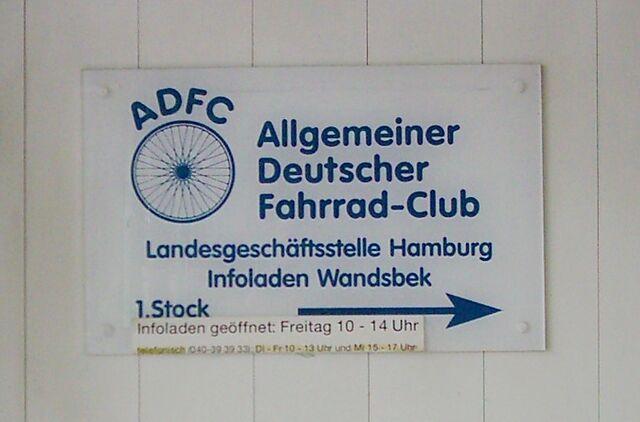 File:Allgemeiner Deutscher Fahrrad-Club ADFC Hamburg-Wandsbek.jpg