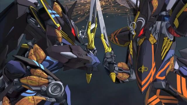 File:Cross Ange 24 Alektra's Raziya fighting off against Cleopatra.jpg
