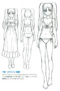 Salia - Nightdress and Underwear - Concept art