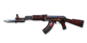 AK47 KNIFE REDSPIDERWEB