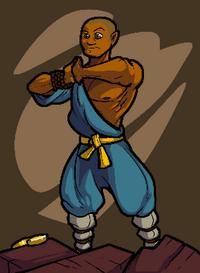 Bestiary monk