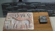 Indus civilisation seal unicorn at Indian Museum, Kolkata