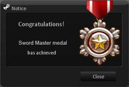 Sword Master Medal