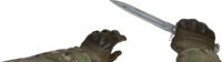 V knife bayonet