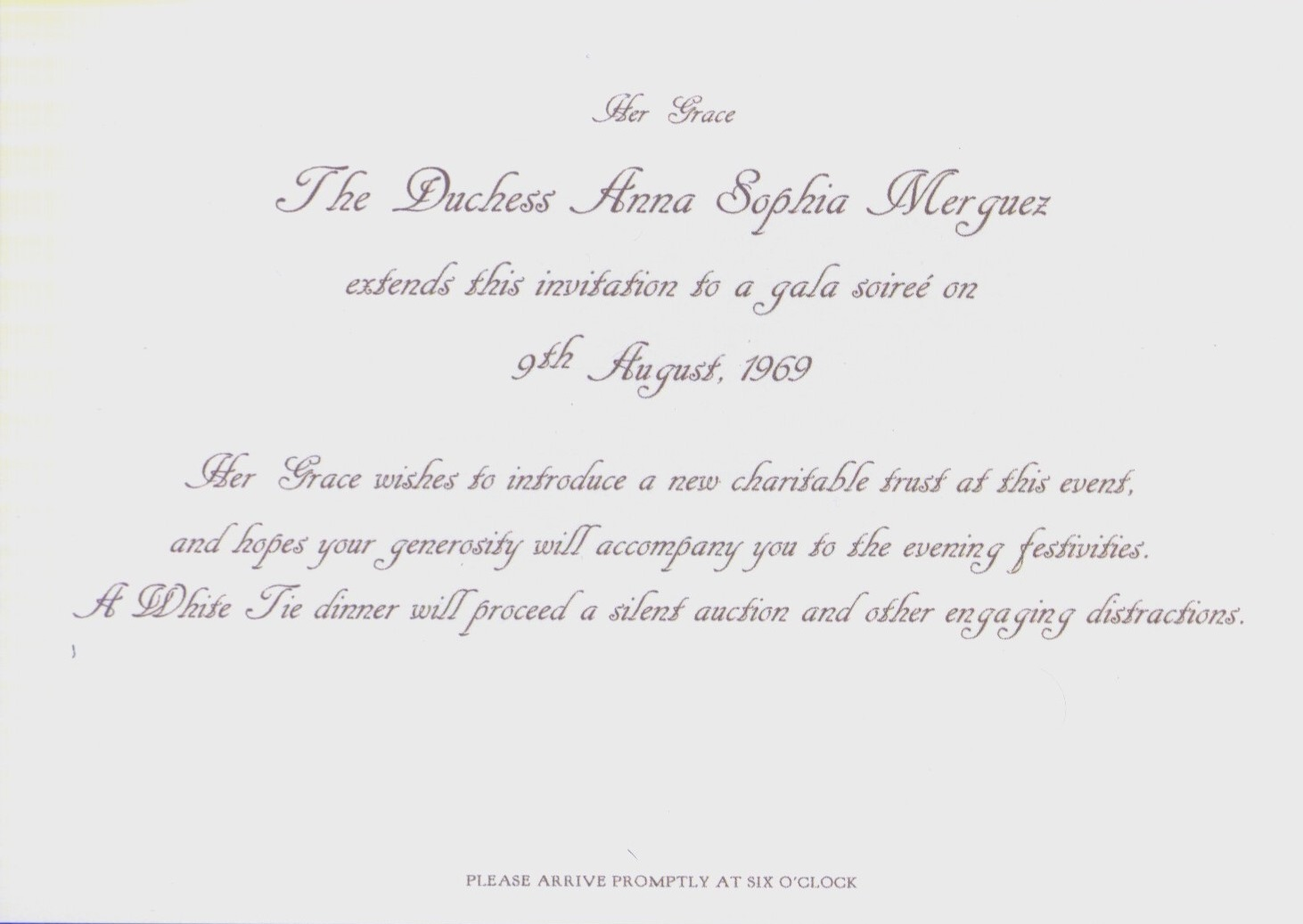 Soiree Invitation