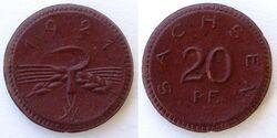 Saxony 20 pfennig 1921