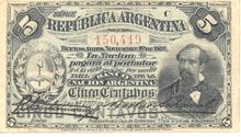Anverso - Billete 5 centavos de Peso Moneda Nacional (Argentina)