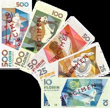 Aruban florin notes