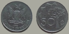 Namibia 50 cent coin