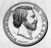 1869 Dutch 2.5 guilders obverse