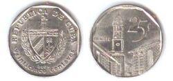 Cuba 25 centavos 2000