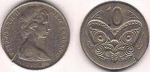 New Zealand 10 cents 1974
