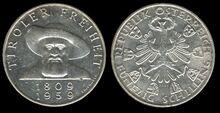 Austria 50 schilling 1959 Tyrol