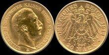 Prussia 20 mark 1911