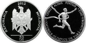 Moldova 50 lei 2012 Olympics