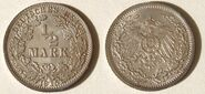 ½ Mark German Empire 1915