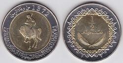 Libya half dinar 2004