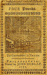 Pennsylvania 4-Lb Note 1777 rev