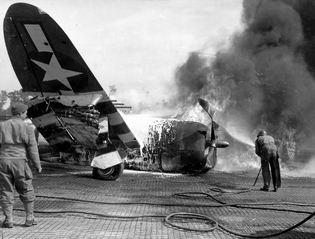 P-47 Burns on Ground