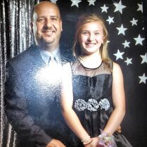 Taylor O'Lear with father