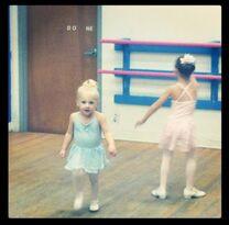 Clara in dance class