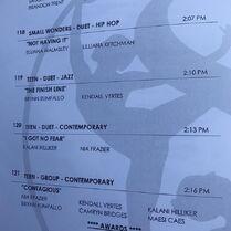 719 Comp Schedule