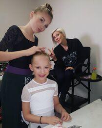 712 Brynn and Lilliana getting ready