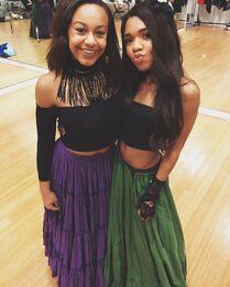 706 Nia and Teala Dunn on set