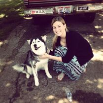 Kerisa McCullough with dog