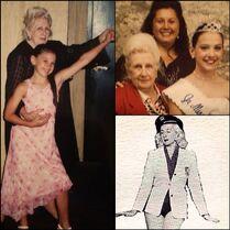 Nina Linhart with Mrs Maryen Lorrain Miller