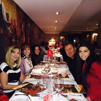 Ireland dinner 26Feb2015 - Melissa Jill Gianna Kira DN