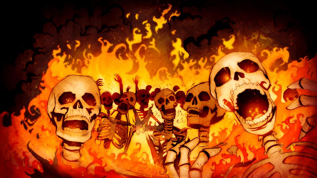 Image result for burning skeletons