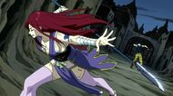 Erza breaks Midnight's illusion