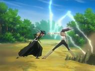 Yoruichi defeats Soifon