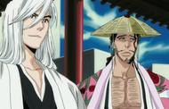 Ukitake and Kyoraku happy
