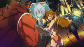 Makoto, Tager, Kokonoe, and Noel