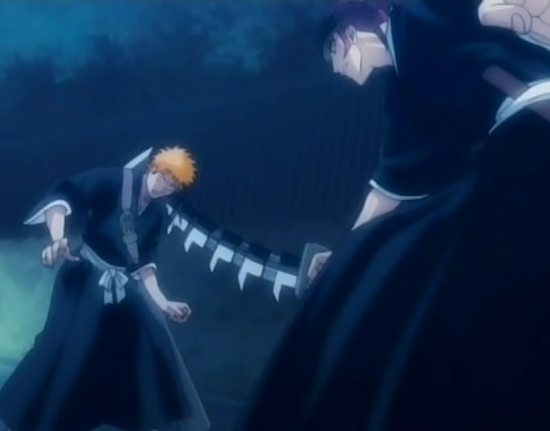 File:Renji injures Ichigo with his Zabimaru's Shikai.png
