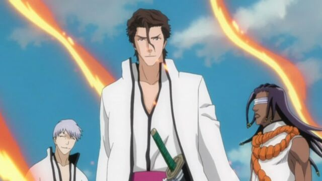 File:Aizen, Gin, and Tosen freed.jpg