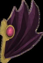 Batwing shield detail