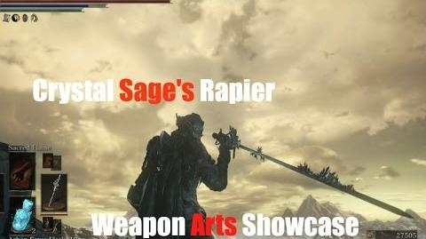 Dark Souls 3 Crystal Sage's Rapier - Weapon Arts Showcase