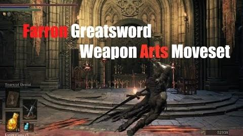 Weapon Arts Showcase Farron Greatsword