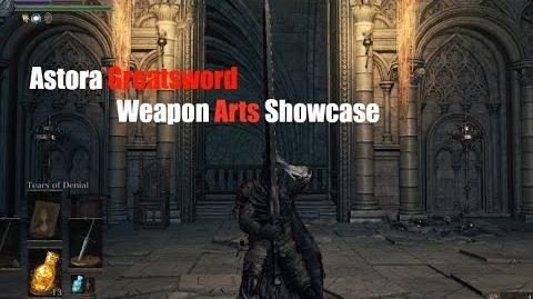 Weapon Art Showcase Astora Greatsword