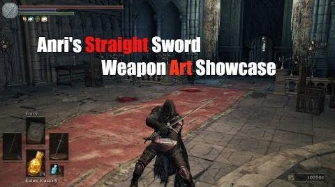 Weapon Arts Showcase Anri's Straight Sword