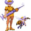 Darkstalkers Q-Bee transforms