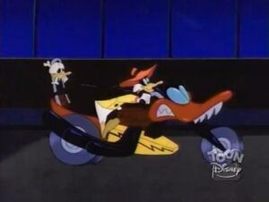 The Quiverwing Quack - Negaduck's own motorcycle