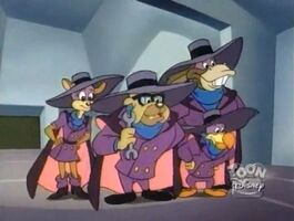 The Darkwing Squad - four Darkwings
