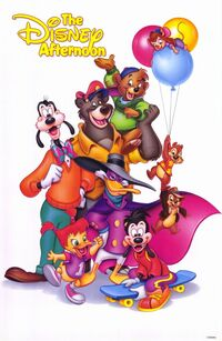 Disney Afternoon poster--darkwing duck and others