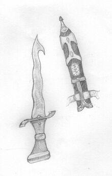 Ulgo hook pointed knife by logovanni
