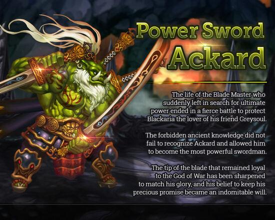 Power Sword Ackard release poster