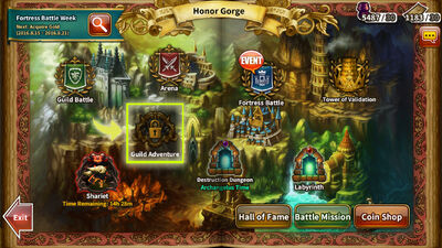 Honor Gorge Guild Adventure location